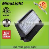 2016 new ETL DLC listed 150w led wall pack light with 5 years warranty wall light/ wall lamp