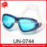 2015 Newest anti-fog silicone swimming goggles with variouis design and adjustable strap