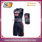Stan Caleb polyester custom brief style sublimation reversible basketball uniforms/suit/tops/jerseys