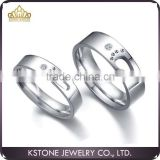 KSTONE Fashion jewelry stainless steel cute little feet cheap couple rings for venlentines