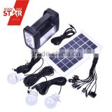 2015 new portable solar lantern kit system solar panel kit with mobile phone charger solar panel ,4AH battery 3W led light