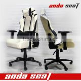 WHITE LEATHER Racing Gaming Office Chair Headrest Most Durable Office Chair Fashionable SPO