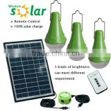 Solar light bulb system with 3 brightness for child studying,home lighting,camping & emergency lighting