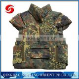 camo military bullet-proof vest