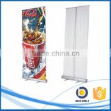 Advertising aluminum roll up display stand, roll up standees with feets, economic aluminum roll up banner