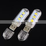 Factory price 3pcs led SMD5730 USB Mini Book lights