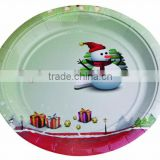 12 inch round disposable birthday party design paper plate for pizza