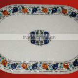 Inlay Marble Stone Oval Dining Table Top