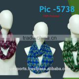 FASHION POLYESTER PRINTED SCARVES WITH POMPOM SHAWL SCARF PAREO SARONG