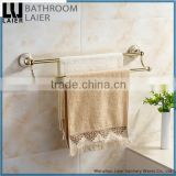 Bathroom Fittings Printing LinesZinc Alloy Gold Finishing Bathroom Accessories Wall Mounted DoubleTowel Bar