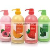 essential aroma oil shower gel liquid soap cosmetics OEM factory in china baby body wash shower