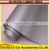 Hot selling 3D carbon fiber vinyl wrap/Bubble free self adhesive 3m car wrapping vinyl Carbon fiber