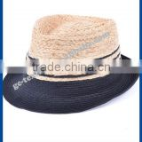hot new products for 2014 Jazz mixed colors raffia hat sunshade summer lady hate para straw hat and cap custom logo