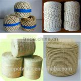 braided and twisted cord ;sisal fiber for machine ;sisal rope made in china ; sisal twine