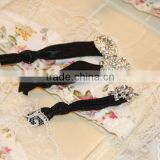 Elastic rhinestone headbands hair band /Fancy girls neon elastic hair band