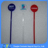 Custom Logo Plastic Coffee Stir/Swizzle Stick/Stir Stick
