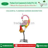 Beautifully Painted and Crafted Pink Flamingo Decoration for Green Garden