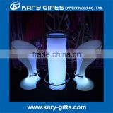 Certified & Hot sale lighted cube/round illuminated led drinking BAR table event furniture designs