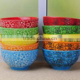 5'' glazed colorful ceramic bowl set