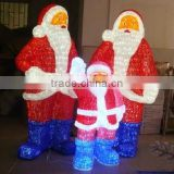 High quality outdoor/indoor waterproof Christmas motif decoration 3D Acrylic led lights santa claus