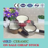 Stocked korean style colorful single handle cheap ceramic pots