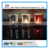 Electroplated Stained Votive Candle Holder for Aromatherapy Candle
