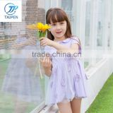 OEM 2017 Summer Baby Princess Party Knitted Dress For Baby Girl Summer Dress T16313