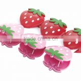 strawberry clip,strawberry shape colorful clip,ABS clip