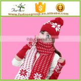 cashmere knitted winter scarf hat glove set