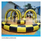 zorb ball air track/inflatable air tumble track/car racing inflatable air track for sale