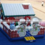 Hot sale outdoor inflatable Christmas house bouncer for party