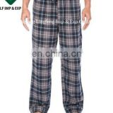 Mens 100% Cotton Flannel Lounge Pants