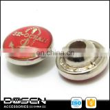 100%QC quality assure Hot polish shiny round red rivets fashion boat anchor rivet for jeans shoes handbag