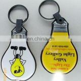 Bulb shaped soft PVC LED keychain flashlight