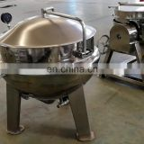 stainless steel electric oil vacuum gas heated with stirrer / steam cooking jacketed kettle