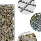 Stable Galvanized Gabion Baskets 2.0 - 4.0 Mm Wire Diameter For Feature Walls