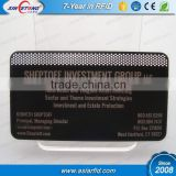 Cutting through and etching matte black business / name metal card, black stainless steel card (China Manufacturer)