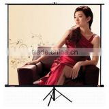2014 black Tripod portable screen / easy move tripod projector screen/Auto-lock smoothly stand tripod,factory price