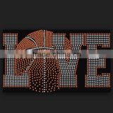 wholesale LOVE Basketball Rhinestone Iron On Transfer Wholesale sports motif