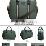Promoation hot item high quatily Travel Document men Bag green colour polyester