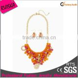 Dangle Necklace Set Richly Colored Beaded Necklace