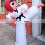 2014 promotional advertising inflatable taekwondo boy