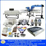 Full set Manual floor standing double carousel 6 color 6 print bed screen printing equipment