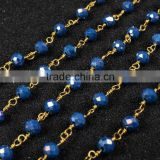 $4/meter by Trade Assurance- Ink blue agate chips gemstone beaded chain-Free Shipping