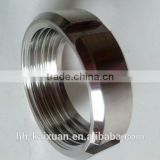 ASTM standard stainless steel sanitary nut with chain and clip with manufacture