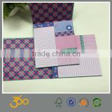 custom logo print memo pad, school supply memo pad with pen