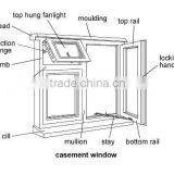 Double Sash Aluminum French Hinged Casement Windows