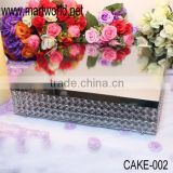 square cake stand surrounded with crystals;crystal cake stand with unique design for wedding decoration&party (cake-002)