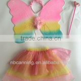 colorful high quality butterfly wing /kids fairy wingscrown/pretty angle wings wholesale