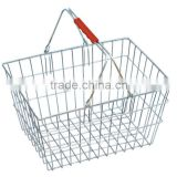 Metal shopping basket with double handle